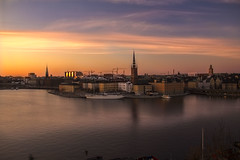 Stockholm (Ely 968) Tags: sea sunset stockholm city cyrch colors nature landscape beautiful pink reflection