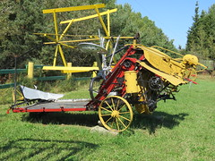 Reaper-Binder (Gerald (Wayne) Prout) Tags: reaperbinder reaper binder antique old historical elmershideout taylortownship blackrivermatheson northeasternontario ontario canada prout geraldwayneprout canon canonpowershotsx60hs powershot sx60 hs digital camera photographed photography farmimplement farm farming agricultural implement equipment machinery machine elmercook elmers hideout taylor township northeastern blackriver matheson northernontario northern straw grain pulltype tractor