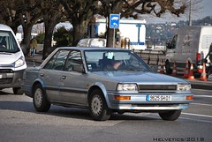 Nissan Bluebird - France, Ain (Helvetics_VS) Tags: licenseplate france ain oldcars nissan bluebird