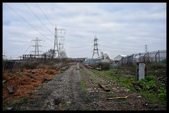 ...Gone (Lewis_Hurley) Tags: goldshill westmidlands england uk birmingham abandoned southstaffordshireline substation electricity pylon trackbed railway