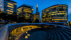 More London (II) (Blende1.8) Tags: london bluehour more morelondon shard theshard city cityscape blauestunde stadtlandschaft modern contemporary architecture architektur urban outdoor evening abends abend arena line lines wideangle nikon d610 uk unitedkingdom england