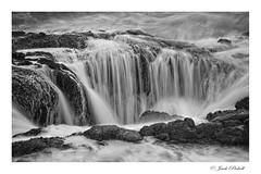 Thor's Well, Oregon Coast (Jack Pickell) Tags: ocean shore sea surf waves water landscape nature oregon rocks d750 blackwhite