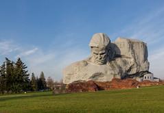 Brest Fortress (tranqvilizator) Tags: belarus monument architecture brest brestfortress grass sky statue park tree