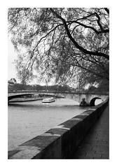 Pont de la Tournelle (madras91) Tags: nb noiretblanc blackandwhite bw monochrome film ilford hp5 iiif leicaiiif leica leicascrewmount summitar summitar5cmf2 50mm landscape cityscape paris
