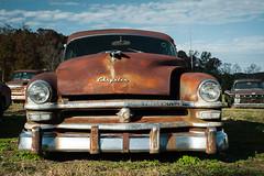 1953 Chrysler Windsor Deluxe (MilkaWay) Tags: georgia hallcounty junkyard carcollection chrysler junkcar classiccar americancar rustedcar rusty rust corroded weathered forgotten 1953chrysler simpsonfarm chryslerwindsordeluxe 1953