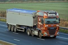 YX15 ONK (panmanstan) Tags: daf xf wagon truck lorry commercial bulk freight transport haulage vehicle m62 motorway sandholme yorkshire