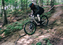 Fast-moving (Serbian Dictator) Tags: blur bike foresttrail speed fast green summerdays contest trbc18 belarus sony a6000 event slope