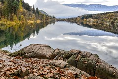 Giornata un po' così... (lucamarasca1) Tags: lakescape nital 18200 nikkor nikon laghiitaliani lake lago monticolo bolzano altoadige italy background landscape nature