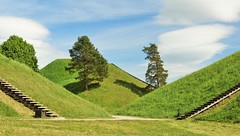 Hillfort (Eziah photography) Tags: lietuva lithuania hillfort hill mound nature green grass sky clouds tree trees landscape travel trip kernavé spring afternoon day light sun sunny simplysuperb