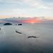 Punta Bulata shoreline and sunset views