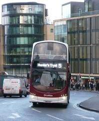 Lothian 956 ascends Leith Street, Edinburgh. (calderwoodroy) Tags: eclipsegemini2 wrightbus b9tl volvo sn11eag 956 service5 edinburghtransport transportforedinburgh lothianbuses lothian100 lothianbusescentenary lothian doubledecker bus leithstreet edinburgh scotland