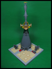 Tower of Babel (Karf Oohlu) Tags: lego moc microscale vignette communication communicationtower towerofbabel scifi