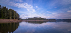IMG_0562 (blooddrainer) Tags: landscape nature waterscape reflection sky spring clouds mountain reservoir dam bulgaria blooddrainerphotography panorama