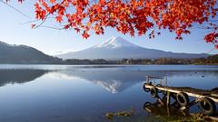AI1A3179 (arcaswiss) Tags: fujiyama mtfuji lake red autumn reflection snow landscape scenic lakekawaguchi