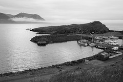 Borgarfjörður Eystri (peterkelly) Tags: bw canon 6d europe iceland gadventures bestoficeland borgarfjörðureystri bakkagerði harbour harbor boats boat shoreline shore coastline coast water northatlanticocean dock ripples