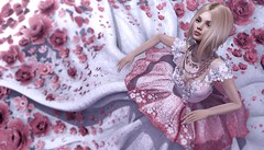 Never Sweeter (Taylor Wassep) Tags: secondlife sl tableauvivant glamaffair moonamore ascendent cupidinc cupid love elegance amore grand gown florals white pink blonde mesh taylorwassep