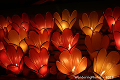 Candle Lanterns in preparation for the Lantern Floating Ceremony - to worship the guardian of water - Inle Lake Myanmar (WanderingPJB) Tags: myanmar burma inlelake water candle lantern lanternfloatingceremony smileonsaturday curiouscandles