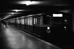 East-Berlin S-Bahn (Drehscheibe) Tags: train blackwhite station analogica nikonf2 nikkor35mm 35mm film hp5plus