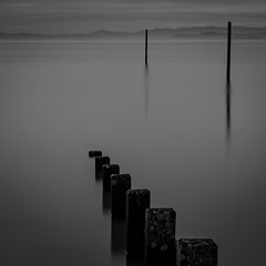 Still waters move mountains (Phil West) Tags: longexposure morecambe seascape morecambebay lakedistrict mountains lee bigstopper still calm blackwhite mono