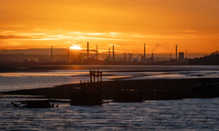 Stanlow Sunrise January 2019 (Rob Pitt) Tags: eastham ferry sunrise stanlow refinery river mersey canon 70200 f4 l sony a7rii sunset city skyline sky water sea wirral cheshire