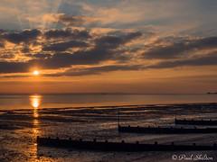 _1200037 (Paul_sk) Tags: winter sunset shoeburyness essex river thames beach mud boats clouds sun sky southendonsea