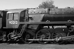 Clear Daylight (sfryers) Tags: br standard class 9f 92212 2100 heavy freight locomotive historic preserved steam railway watercressline ropley hampshire smc pentaxda 21mm 132 limited monochrome