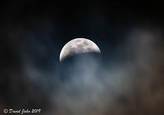 Cloudy Eclipse (David A Jahn) Tags: bloodmoon clouds cloudy cloudymoon eclipse fullmoon lunareclipse moon obscured obscuredmoon wolfbloodmoon wolfmoon california