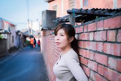 CAS05862 (CasaDeAM) Tags: asia portrait wall hair blue sunrise pretty woman girls chihu taiwan