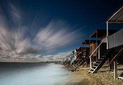 Essex Thorpe Bay (daveknight1946) Tags: essex southend thorpebay water longexposure beachhuts beach steps clouds greatphotographers