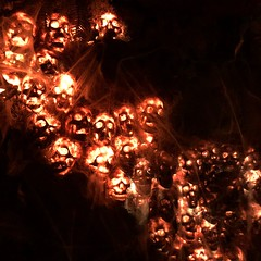 False Idol (jericl cat) Tags: sandiego tiki bar hidden theme interior design skull entrance wall glowing