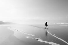 Exit Elysium (NVOXVII) Tags: coast cornwall sandymouth blackandwhite nikon monochrome contrast light artistic silhouette peaceful serene beach walking reflection heavenly