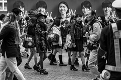 Infiltration (burnt dirt) Tags: asian japan tokyo shibuya station streetphotography documentary candid portrait fujifilm xt1 bw blackandwhite laugh smile cute sexy latina young girl woman japanese korean thai dress skirt shorts jeans jacket leather pants boots heels stilettos bra stockings tights yogapants leggings couple lovers friends longhair shorthair ponytail cellphone glasses sunglasses blonde brunette redhead tattoo model train bus busstation metro city town downtown sidewalk pretty beautiful selfie fashion pregnant sweater people person costume cosplay boobs halloween shibuyahalloween