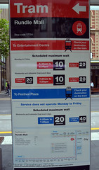 Check your destination (railfan3) Tags: adelaidemetro metroadelaide adelaidetrams signs signage informationboards informationdisplays tramservices lightrailservices adelaide publictransport southaustralia