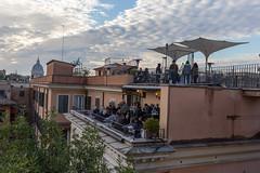 Eine Party über den Dächern Roms