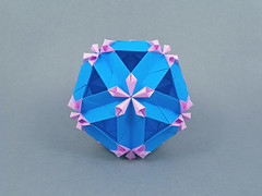 Tweedia (masha_losk) Tags: kusudama кусудама origamiwork origamiart foliage origami paper paperfolding modularorigami unitorigami модульноеоригами оригами бумага folded symmetry design handmade art