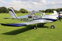G-CECY (GH@BHD) Tags: gcecy evektor evektoraerotechnik ev97 evektoraerotechnikev97eurostar laarally2018 sywellairfield laa laarally sywell aviation aircraft microlight