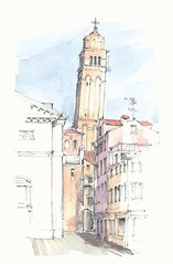 Campo San Maurizio, Venezia, Italia (Linda Vanysacker - Van den Mooter) Tags: camposanmaurizio venezia italia 2018 aquarello watercolor watercolour visiblytalented vanysacker vandenmooter tekening sketch schets potlood pencil lindavanysackervandenmooter lindavandenmooter drawing dessin croquis crayon art aquarelle aquarell aquarel akvarell acuarela
