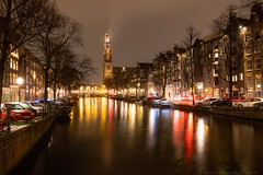 Amsterdam by night (julesnene) Tags: 30seconds amsterdam amsterdambynight canon1635mmf4lisusm canon5dmarkiv dutch europe juliasumangil netherlands pulitzeramsterdam thenetherlands westerchurch destination julesnene longexposure nightshot travel travelphotography northholland nl travelgirljulia