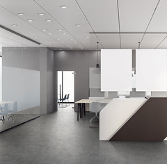 Modern recpetion with empty banner (Santana beeldbank) Tags: office reception interior lobby wall hall business corporate desk design architecture room entrance 3d rendering window city view daylight loft real estate apartment inside floor ceiling counter corridor area waiting table meeting wooden building space empty poster banner billboard mockup blank mock up copy concept advertising frame template pattern clean