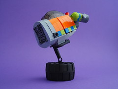 Hoppa Pod (David Roberts 01341) Tags: lego spacepod bubblecar spaceship minifigure scifi future orange toy fun rocket