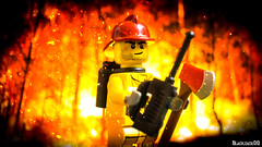 fireman (black.zack00) Tags: lego minifig minifigure fun toy toys fireman forest fire