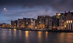 (angheloflores) Tags: amsterdam houses amstel sunset nigt colors travel architecture urban explore netherlands longexposure angelflores