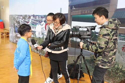 CCTV5记者采访小选手
