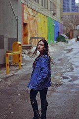 Toronto, 2019 (TheJennire) Tags: photography fotografia foto photo canon camera camara colours colores cores light luz young tumblr indie teen adolescentcontent toronto canada 2019 winter jeans portrait longhair ootd outfit jacket street