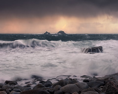 The Raging Sea (Andrew G Robertson) Tags: cornwall coast sunset porth nanven storm waves