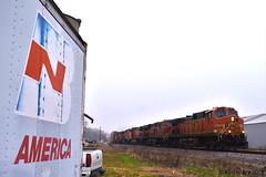 BN That Was (R.G. Five) Tags: bn burlington northern il train railroad container bnsf aurora sub