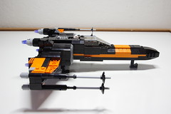 (Improved) Poe Dameron's X-wing: Right View (Evrant) Tags: lego star wars custom x wing t70 t 70 moc bb8 poe dameron black one spaceship starship ship starfighter evrant