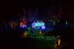 heritage farm scene (johngpt) Tags: lights trees trailer fujifilmx100f tree riveroflights backhoe tractor heritagefarm wclwideconversionlens abqbotanicgardens places treemendoustuesday htmt