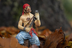 woodland pirate 7 (Mark Rigler -) Tags: forest woods trees pirate model scale figure blue sky outside poole dorset england outdoors