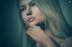 Dee~New Year, New Look (Skip Staheli *10 YEARS SL PHOTOGRAPHER*) Tags: skipstaheli secondlife sl avatar virtualworld digitalpainting delindastaheli delindadench portrait closeup dreamy browneyes blonde beauty